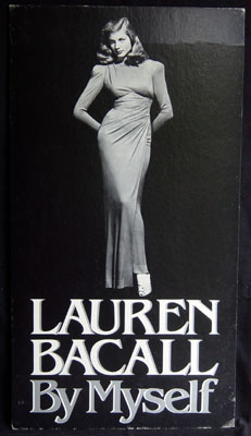 "Lauren Bacall book promotional poster for ""By Myself"""