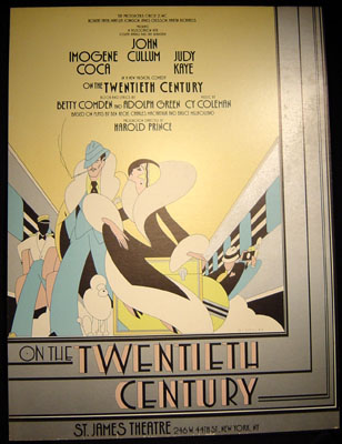 Poster for the1970s Broadway play On the Twentieth Century starring Imogene Coca and John Cullum