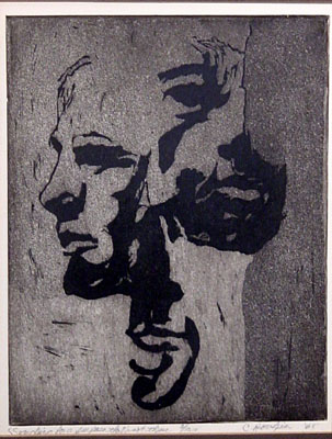 Etching by C. Rouhier 1968